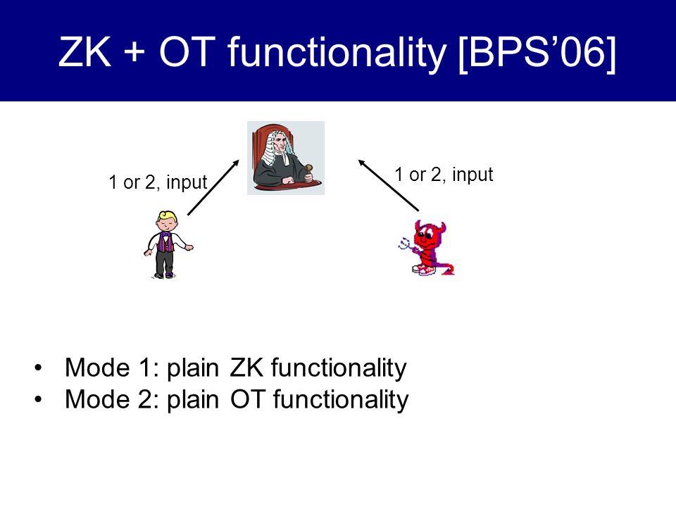 ZK + OT functionality [BPS'06]